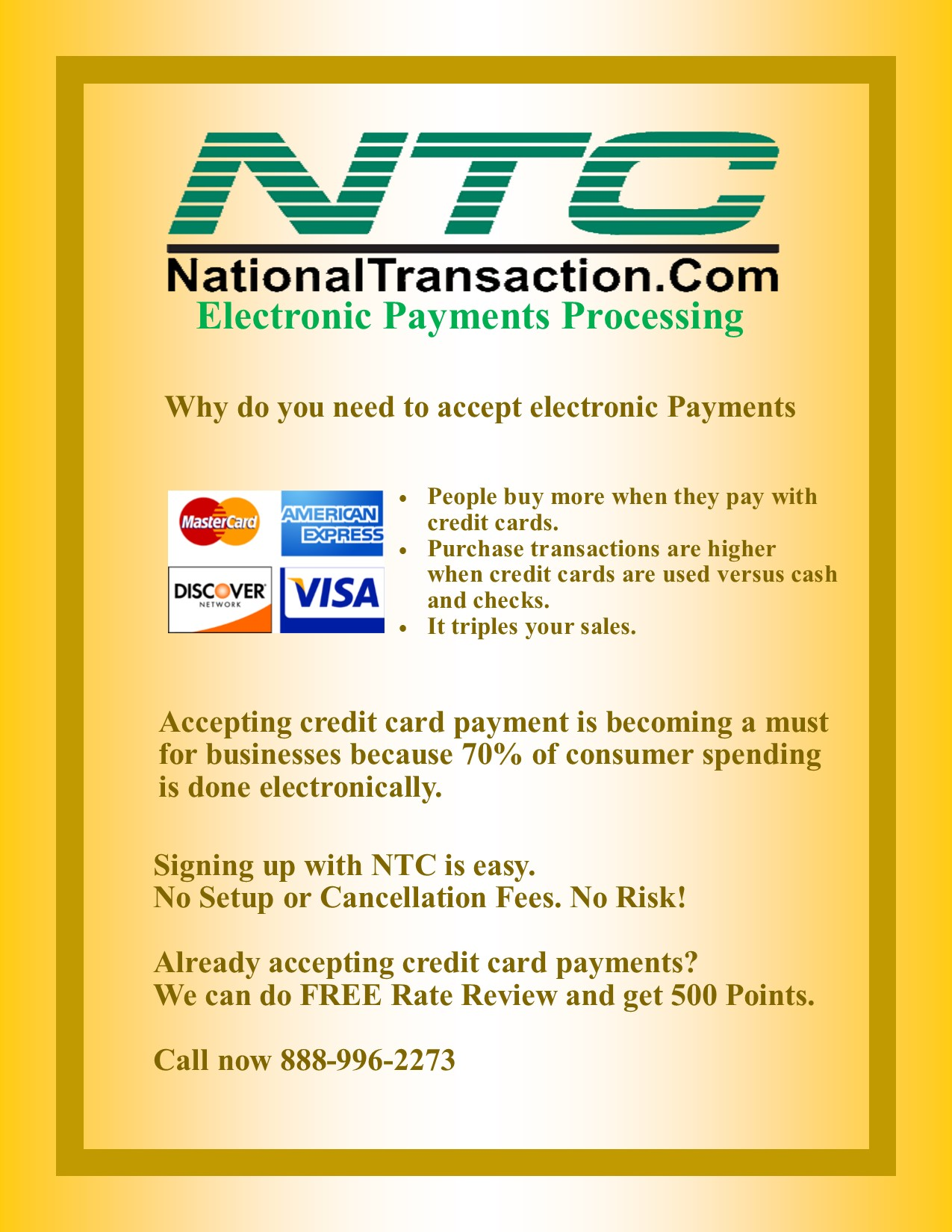 Accepting Electronic Payments