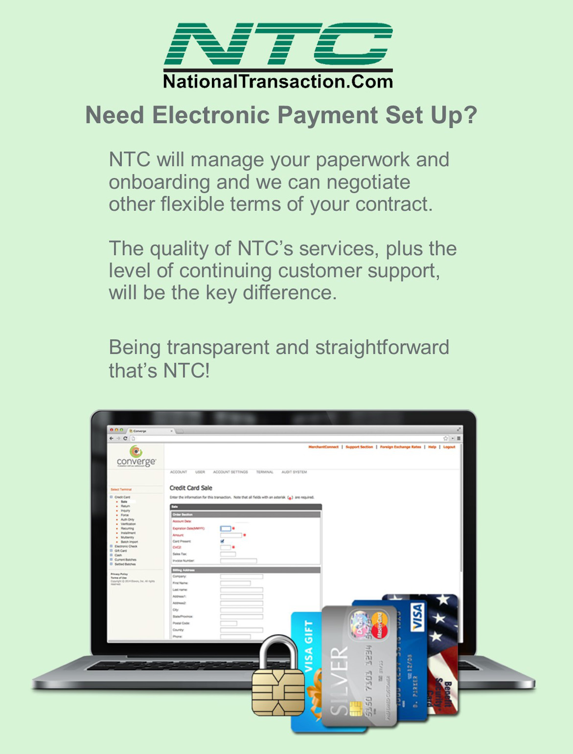 NTC Electronic Payment Set Up